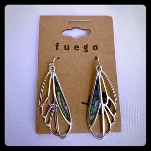 Fuego Earrings Silver Wings Bug Brand New!